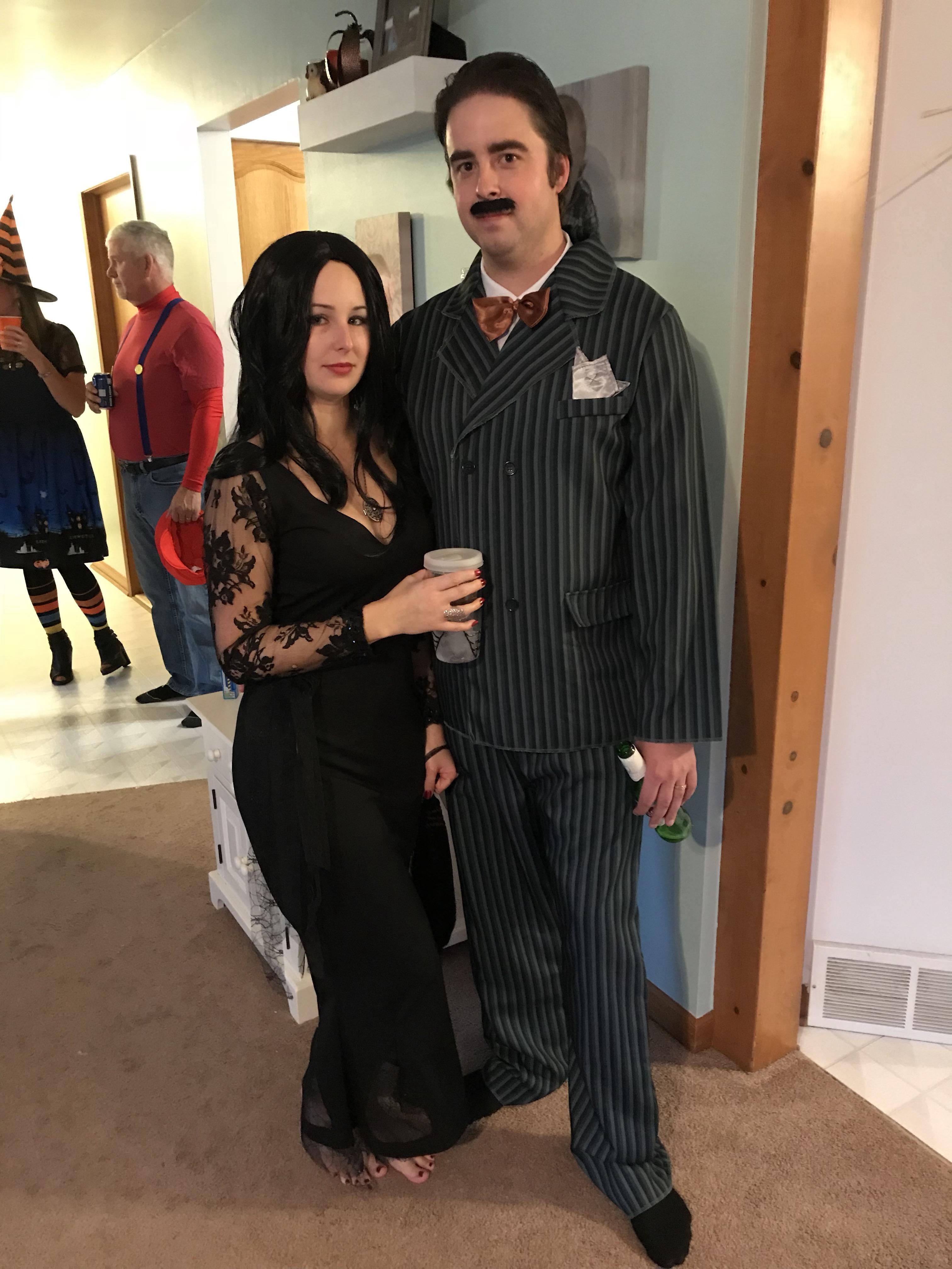 morticia and gomez halloween costumes & gomez and morticia addams